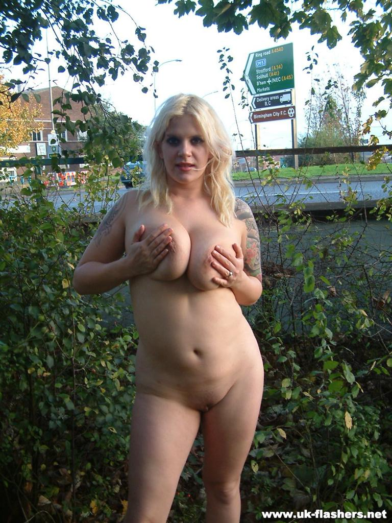 nude in public exposing huge