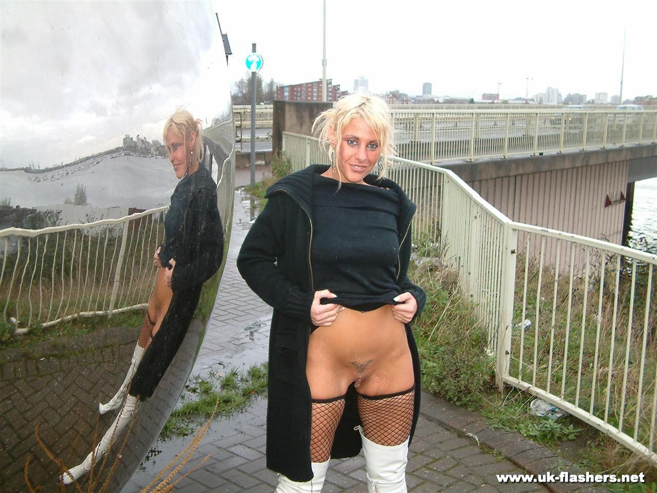 public flashing nude school