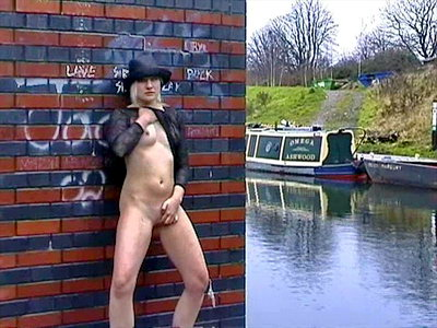 Nude on canal