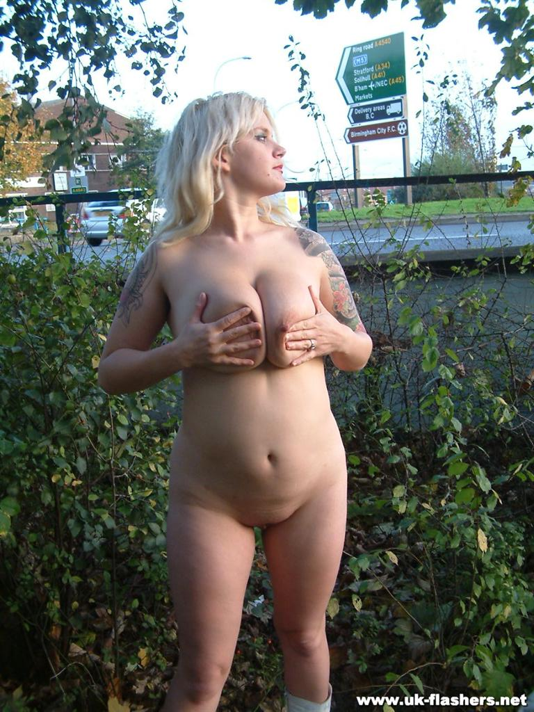 Blonde outside
