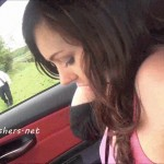 Kacies public masturbation on car seat thumbnail 4