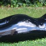 shiny latex outdoors