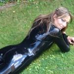 shiny latex outdoors