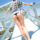 Flashing Beach Babe